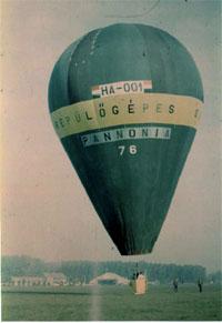 A Pannónia, az első magyar hőlégballon