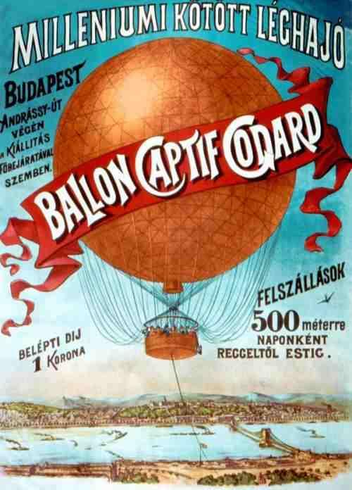 Captif Godard plakátja a milleniumi gázballonról
