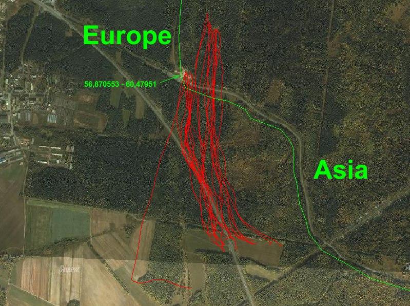 Europe - Asia flight
