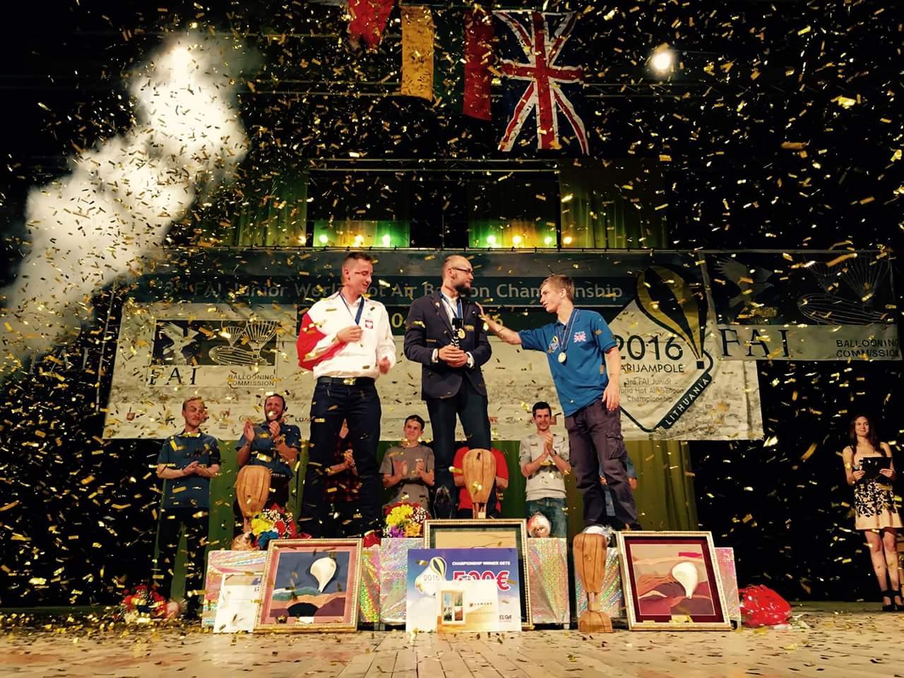 A 3. Ifjúsági Világbajnokság dobogóján.