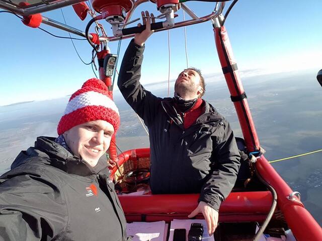 Ondrej Kostrhun és Jan Suchy a rekordrepülés közben