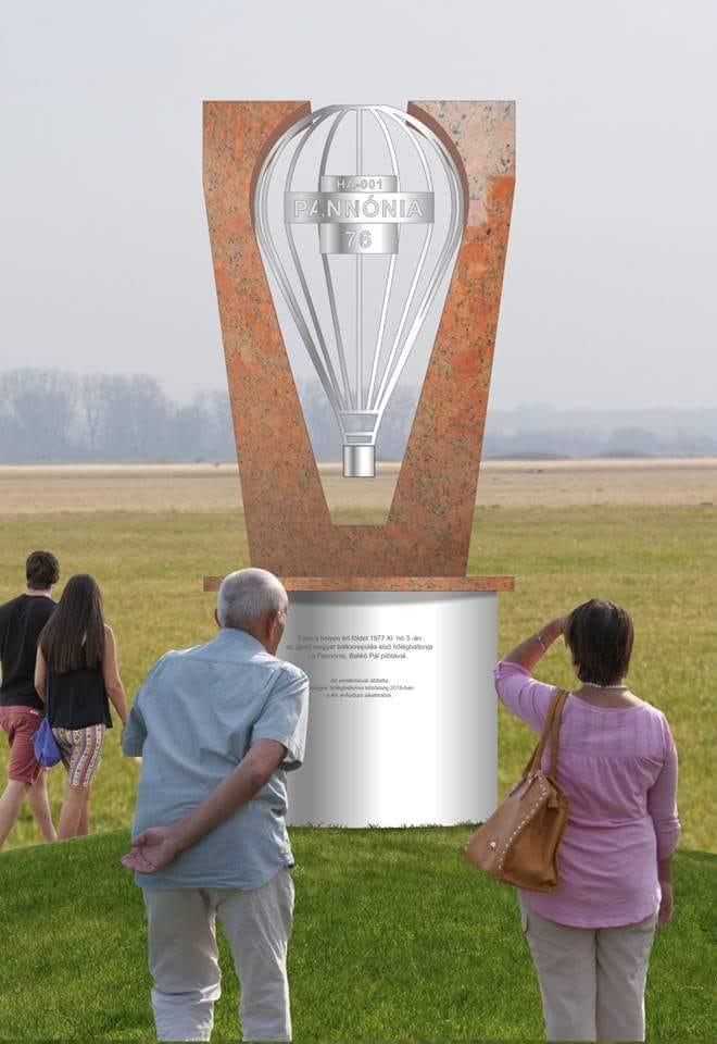 Hőlégballon emlékmű látványterv